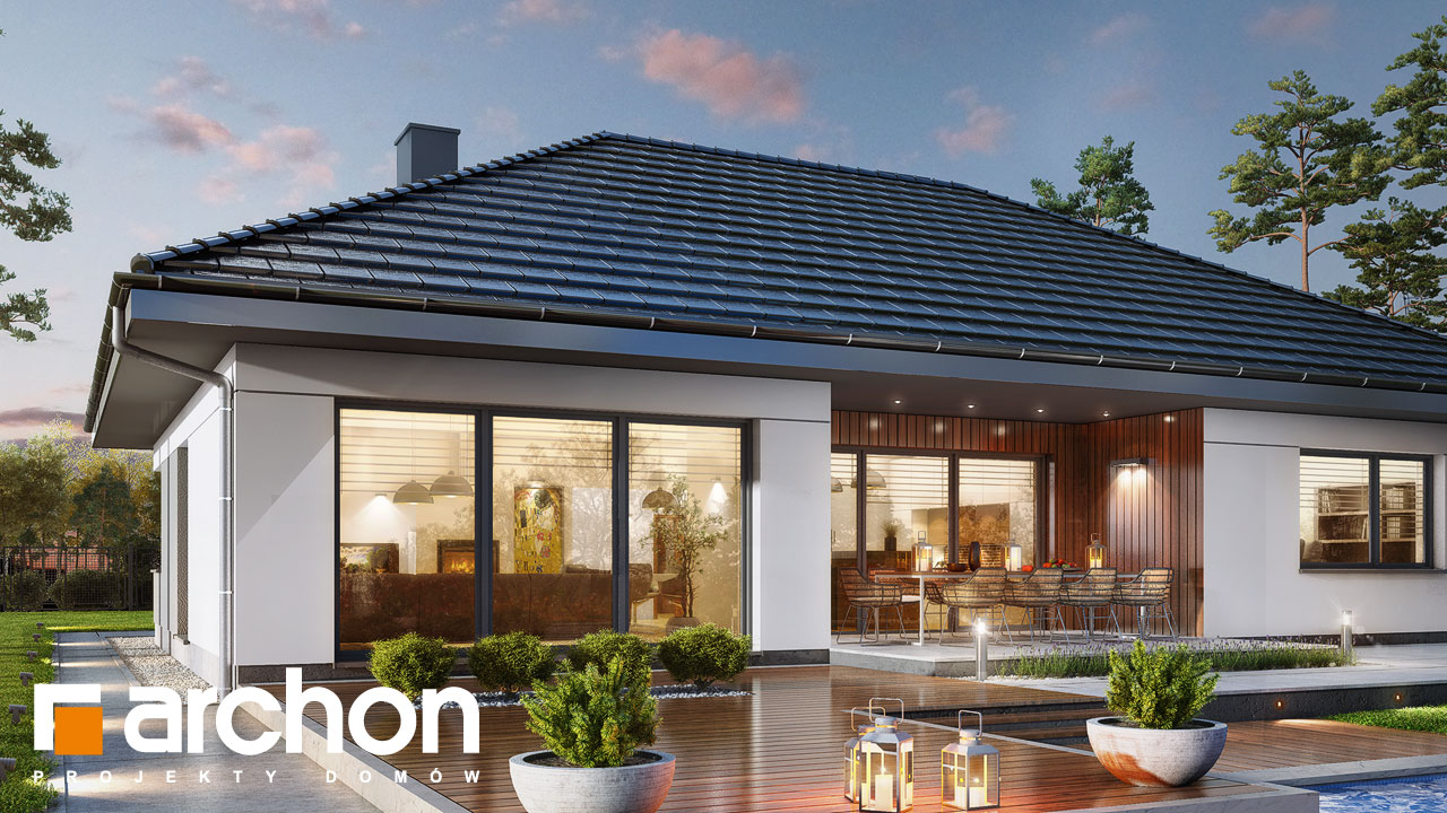 Проект будинку ARCHON+ Будинок в арівах (Г2) додаткова візуалізація