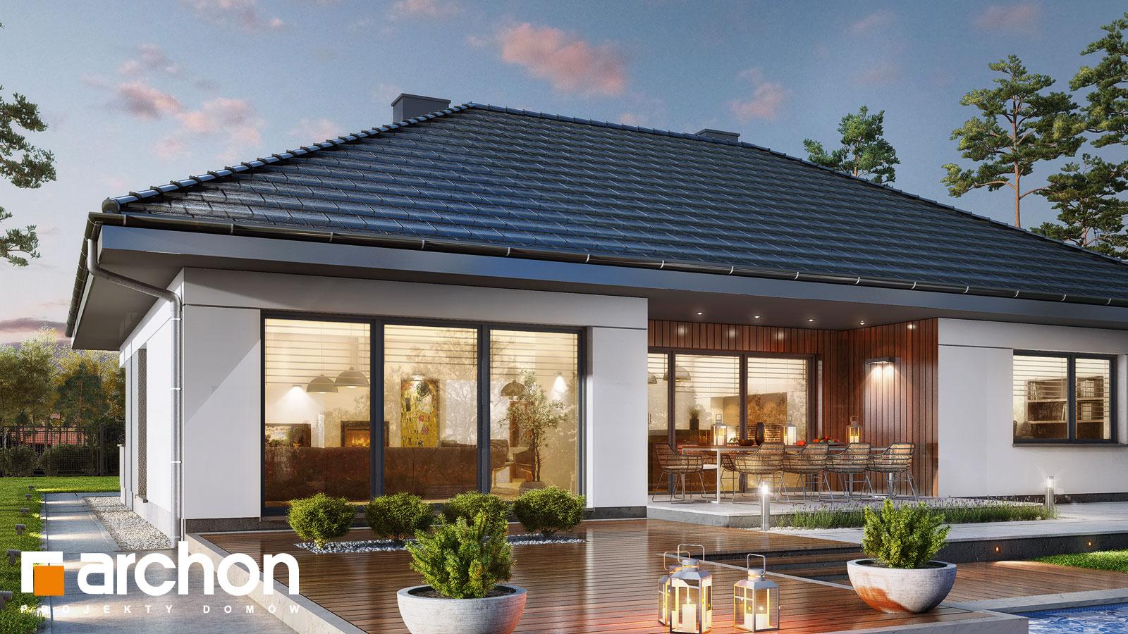 Проект дома ARCHON+ Дом в аривах (Г2) додаткова візуалізація