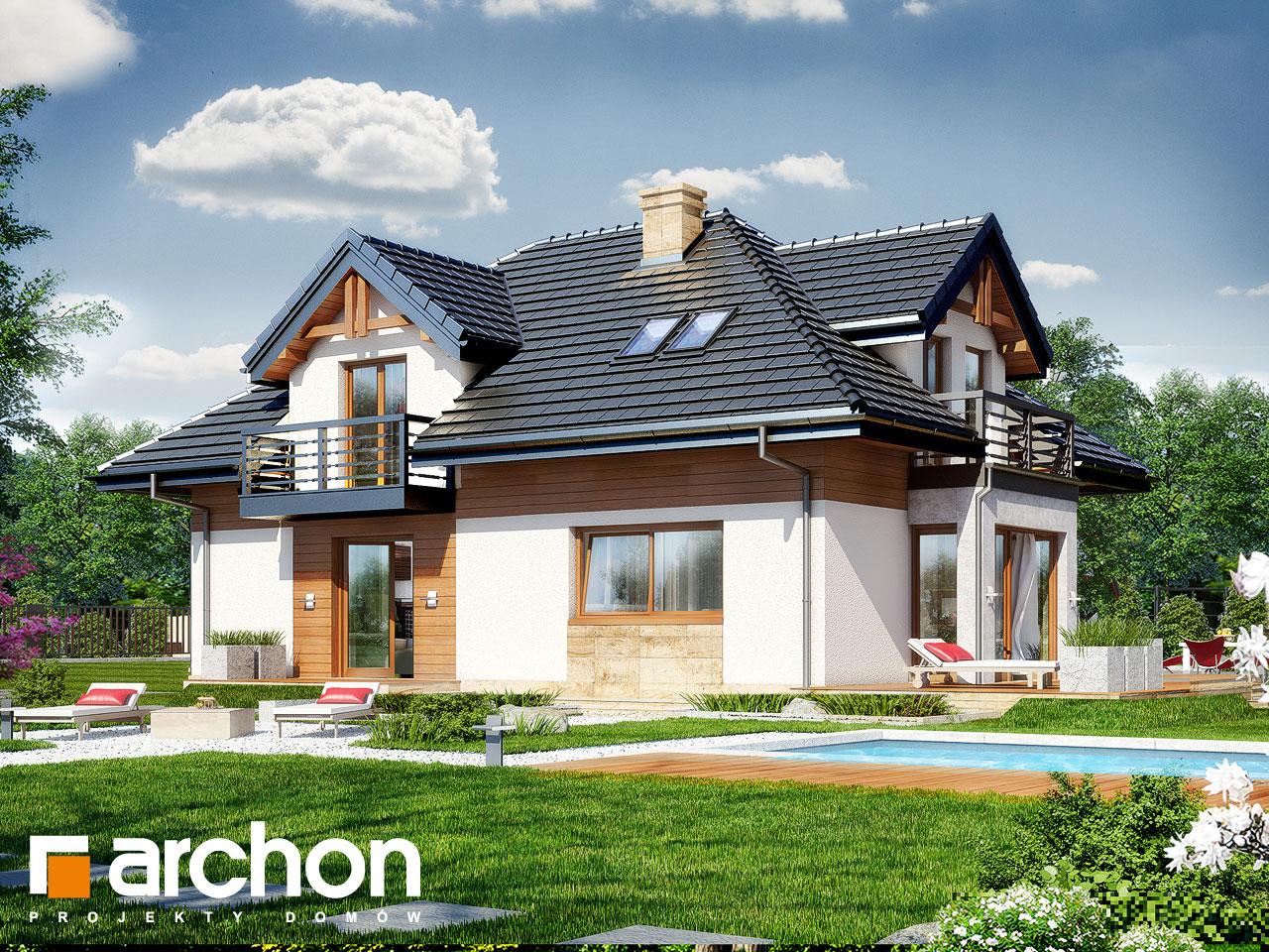 Проект дома ARCHON+ Дом в сальвиниях Вид 2