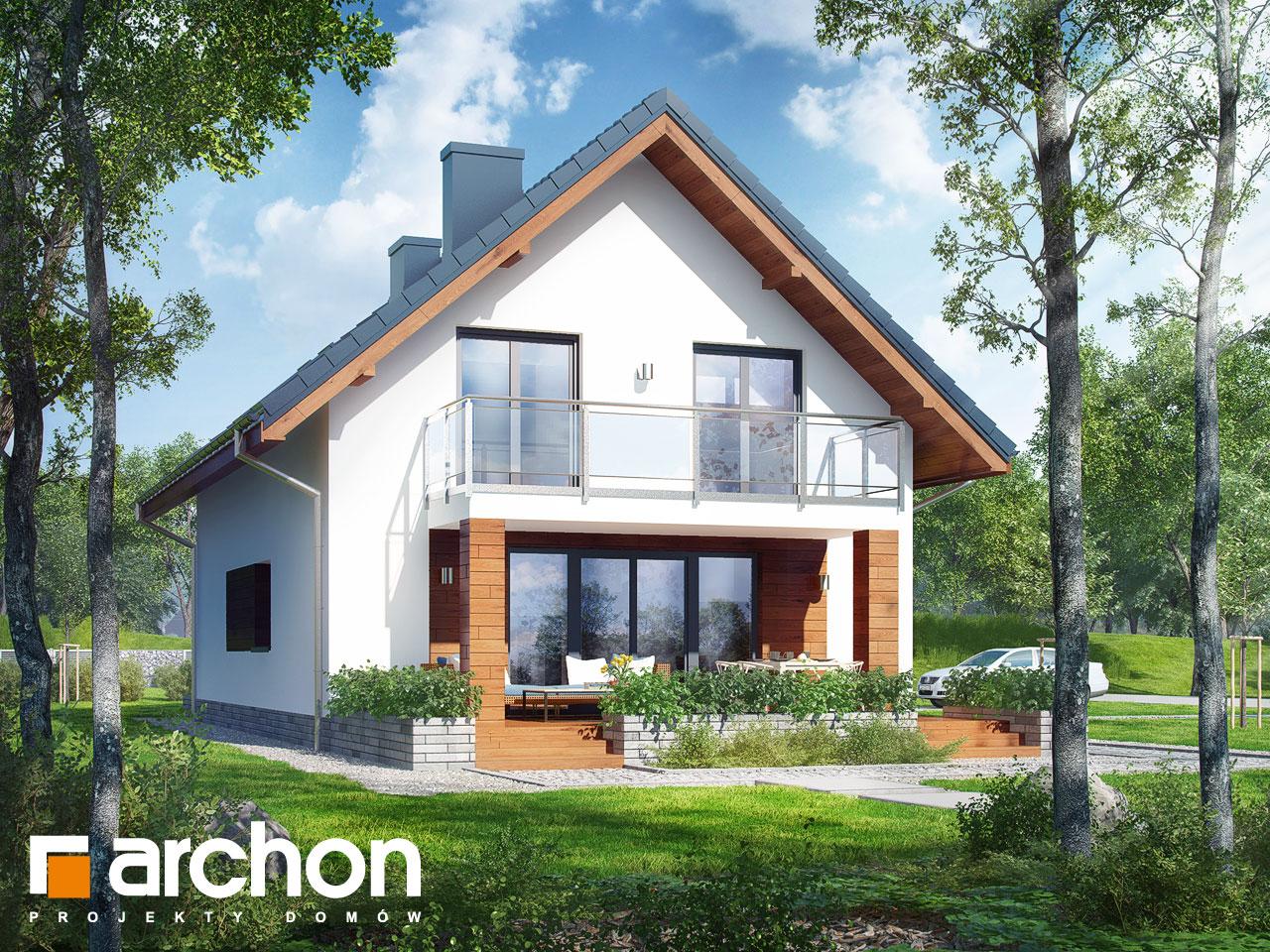 Проект будинку ARCHON+ Будинок в хлорофітумі 4 Вид 2