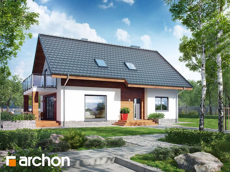 Проект будинку ARCHON+ Будинок в хлорофітумі 4 Вид 1