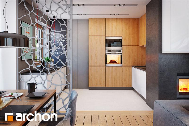 Проект дома ARCHON+ Дом в сирени 2 (Г2) визуализация кухни 1 вид 1
