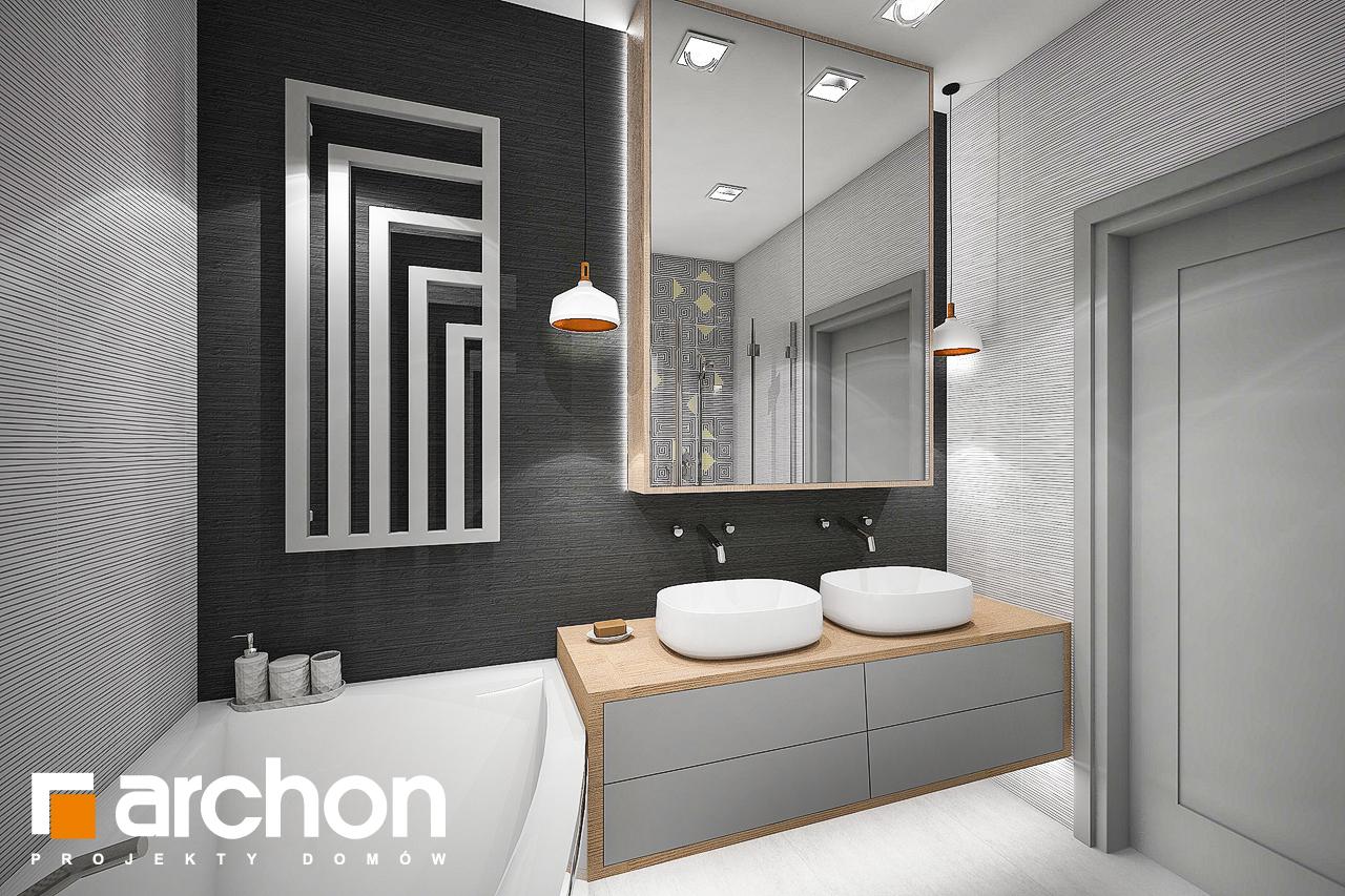 Проект дома ARCHON+ Дом в сирени 2 (Г2) визуализация ванной (визуализация 3 вид 1)