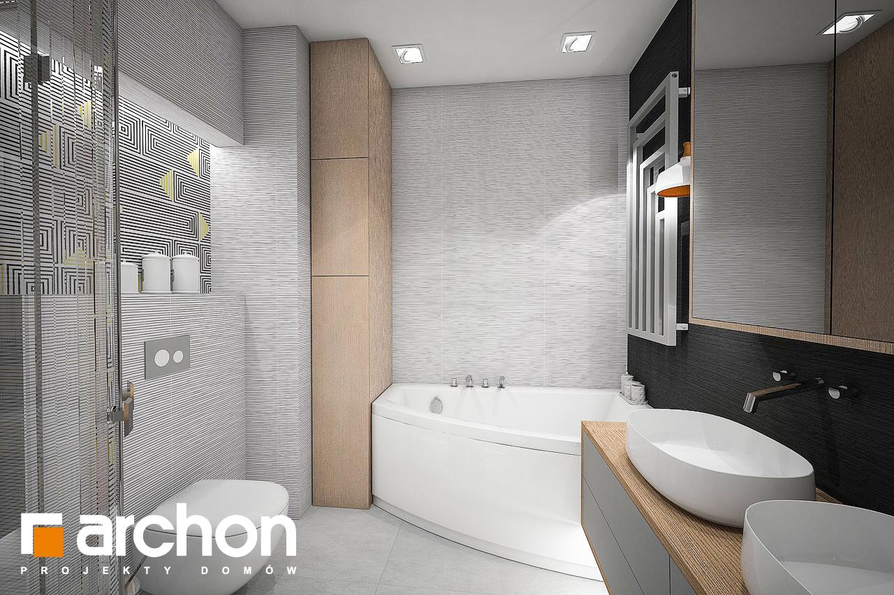 Проект дома ARCHON+ Дом в сирени 2 (Г2) визуализация ванной (визуализация 3 вид 3)