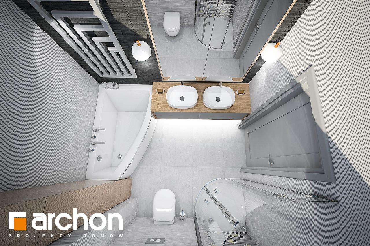 Проект дома ARCHON+ Дом в сирени 2 (Г2) визуализация ванной (визуализация 3 вид 4)
