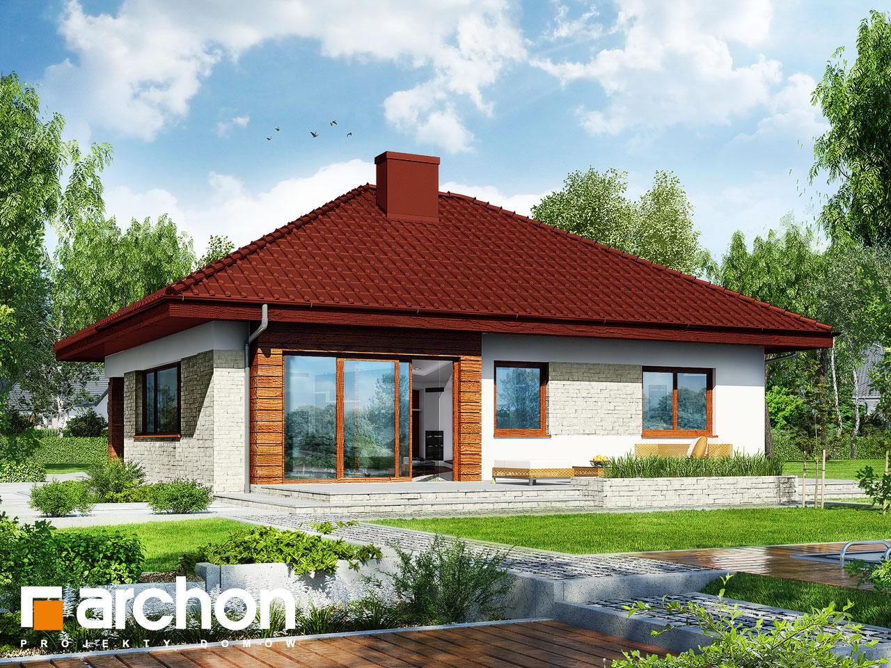 Проект будинку ARCHON+ Будинок в бузку 2 (Г2) Вид 2