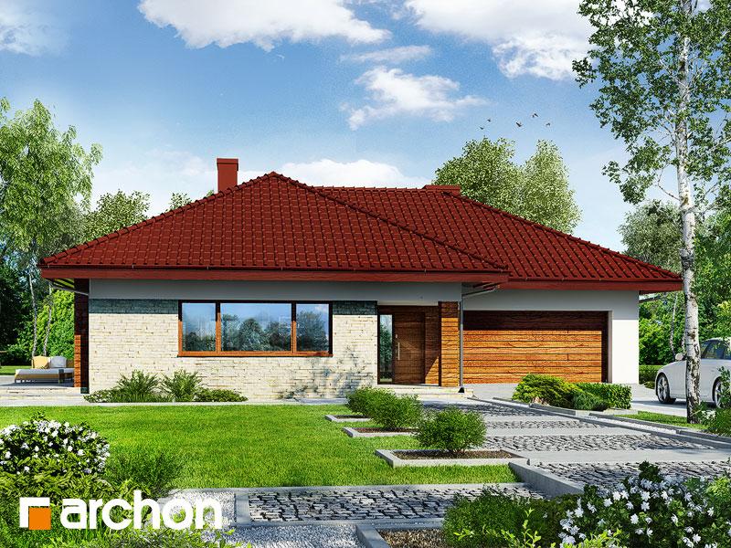 Проект дома ARCHON+ Дом в сирени 2 (Г2) Вид 1