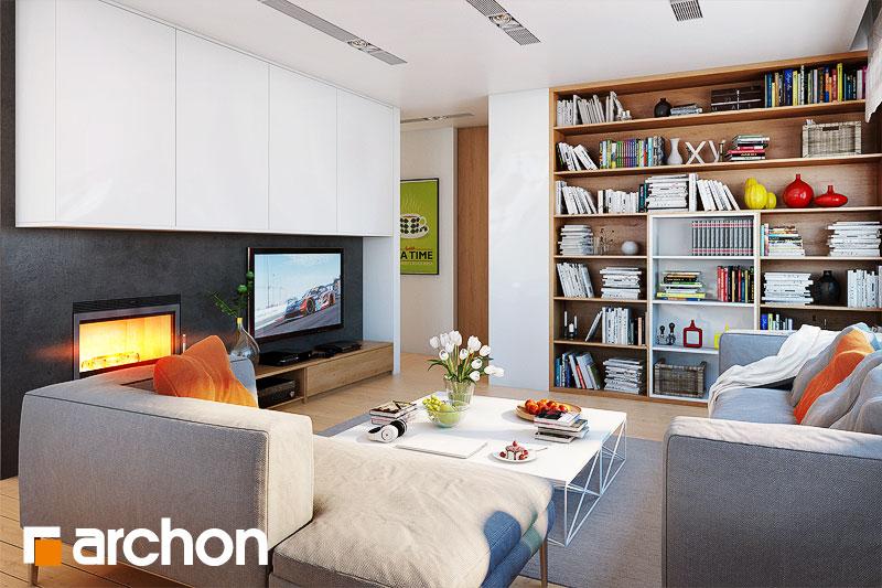 Проект дома ARCHON+ Дом в сирени 2 (Г2) дневная зона (визуализация 1 вид 2)