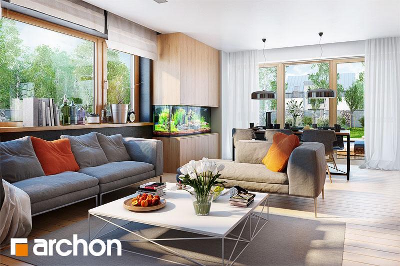 Проект дома ARCHON+ Дом в сирени 2 (Г2) дневная зона (визуализация 1 вид 3)