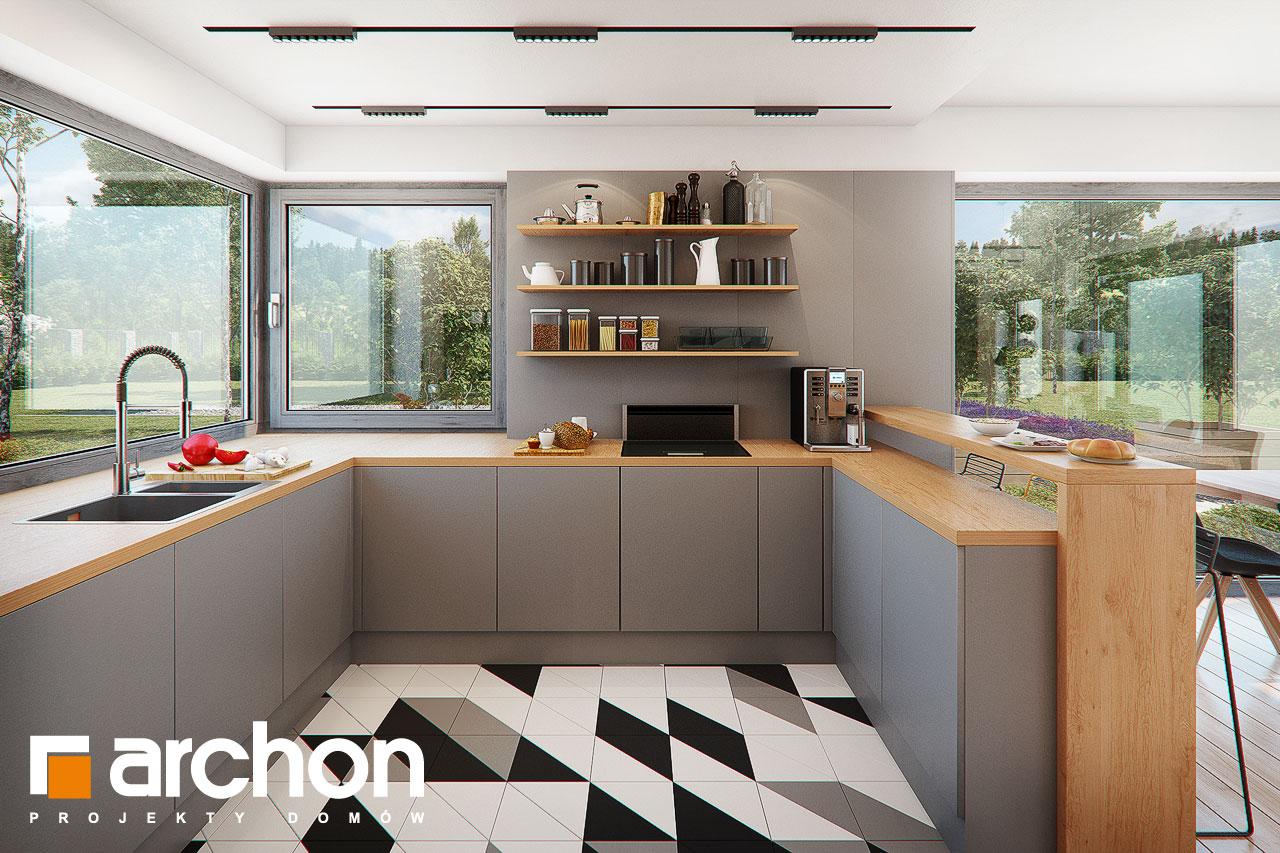 Проект будинку ARCHON+ Будинок в яскерах 5 (Г2) візуалізація кухні 1 від 1