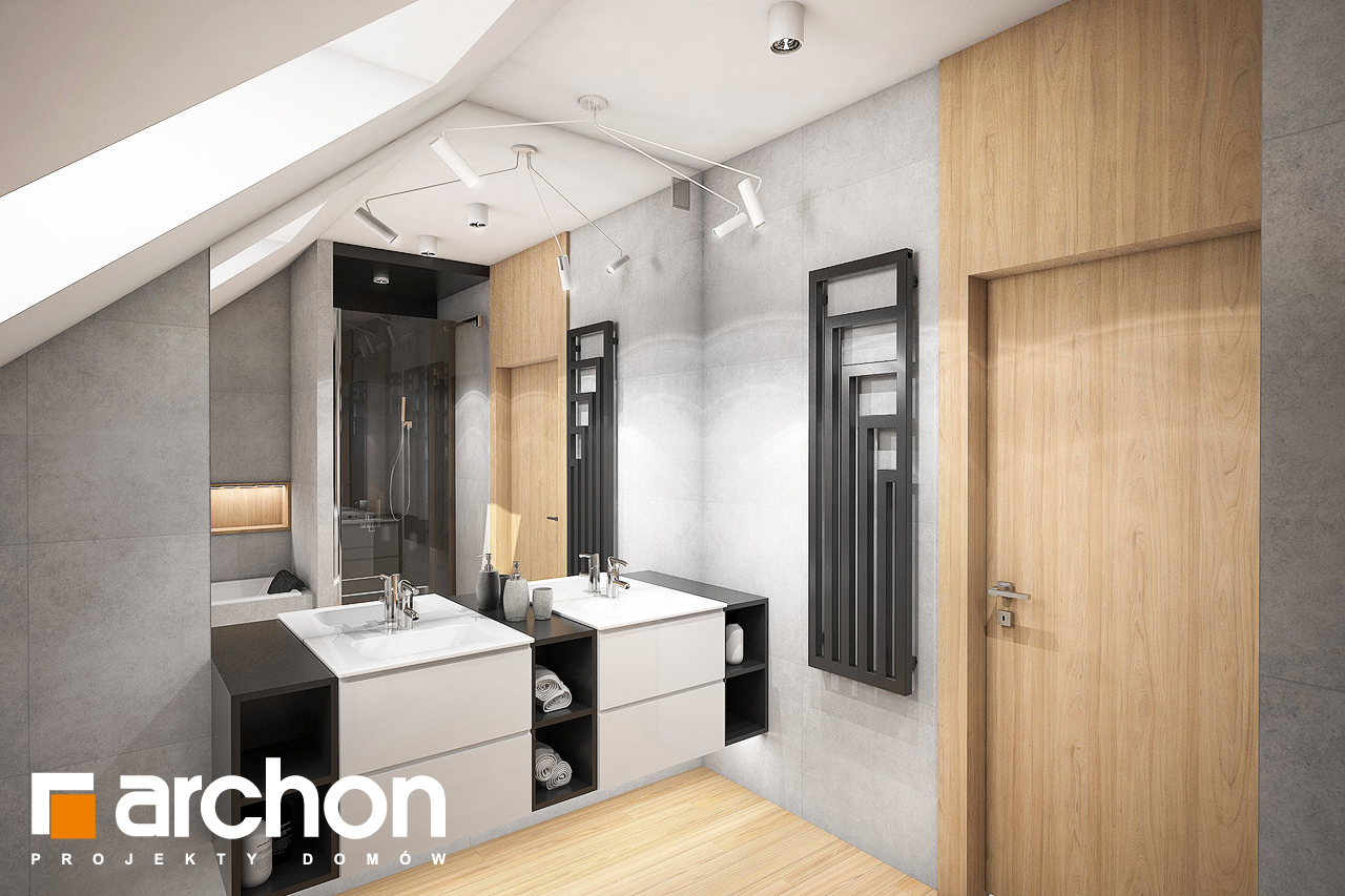 Проект будинку ARCHON+ Будинок в яскерах 5 (Г2) візуалізація ванни (візуалізація 3 від 2)