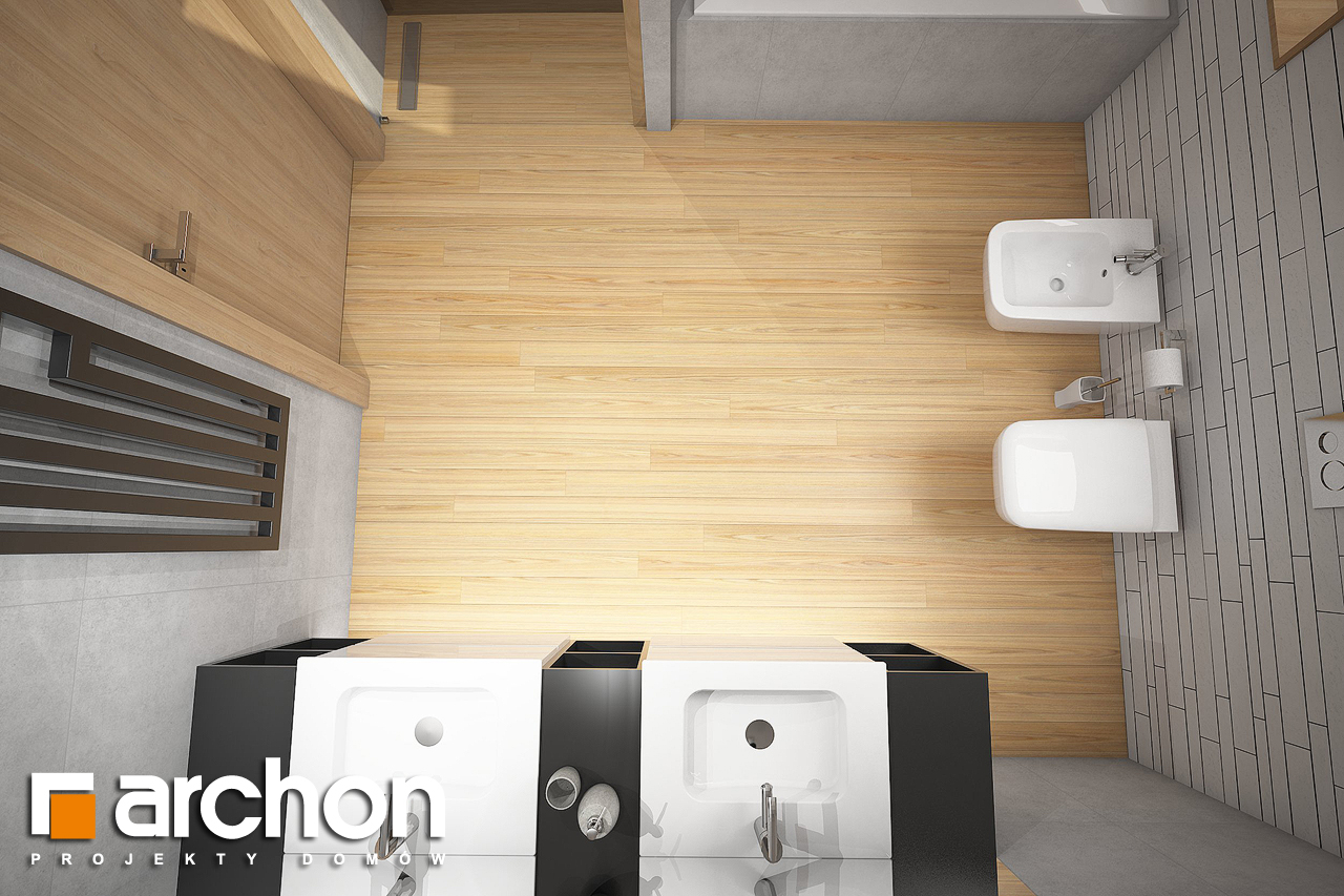 Проект будинку ARCHON+ Будинок в яскерах 5 (Г2) візуалізація ванни (візуалізація 3 від 4)