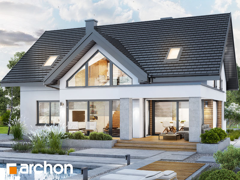 Проект будинку ARCHON+ Будинок в яскерах 5 (Г2) Вид 2