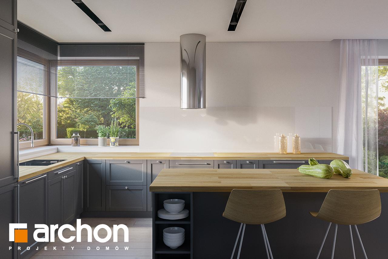 Проект будинку ARCHON+ Будинок в ренклодах 7 (Г2) візуалізація кухні 1 від 2