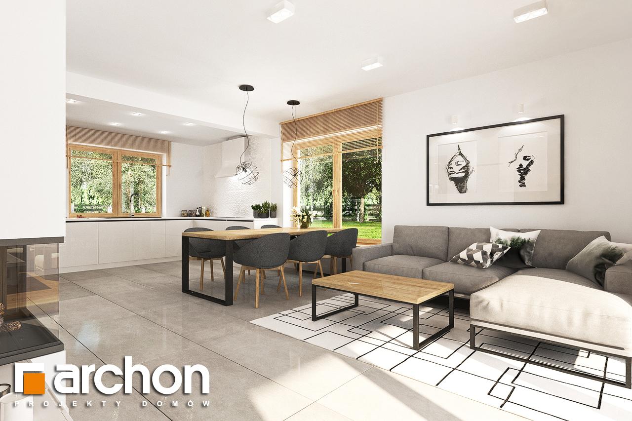 Проект будинку ARCHON+ Будинок в люцерні 7 візуалізація кухні 1 від 2