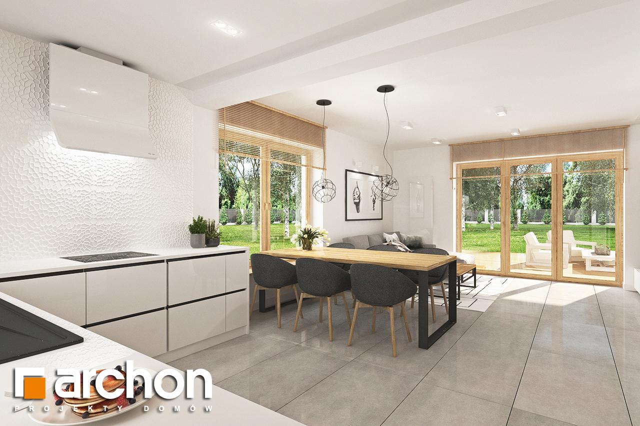 Проект будинку ARCHON+ Будинок в люцерні 7 візуалізація кухні 1 від 3