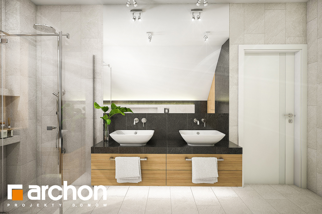 Проект будинку ARCHON+ Будинок в люцерні 7 візуалізація ванни (візуалізація 3 від 1)
