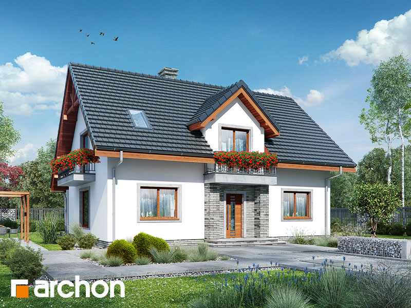 Проект будинку ARCHON+ Будинок в люцерні 7 Вид 1