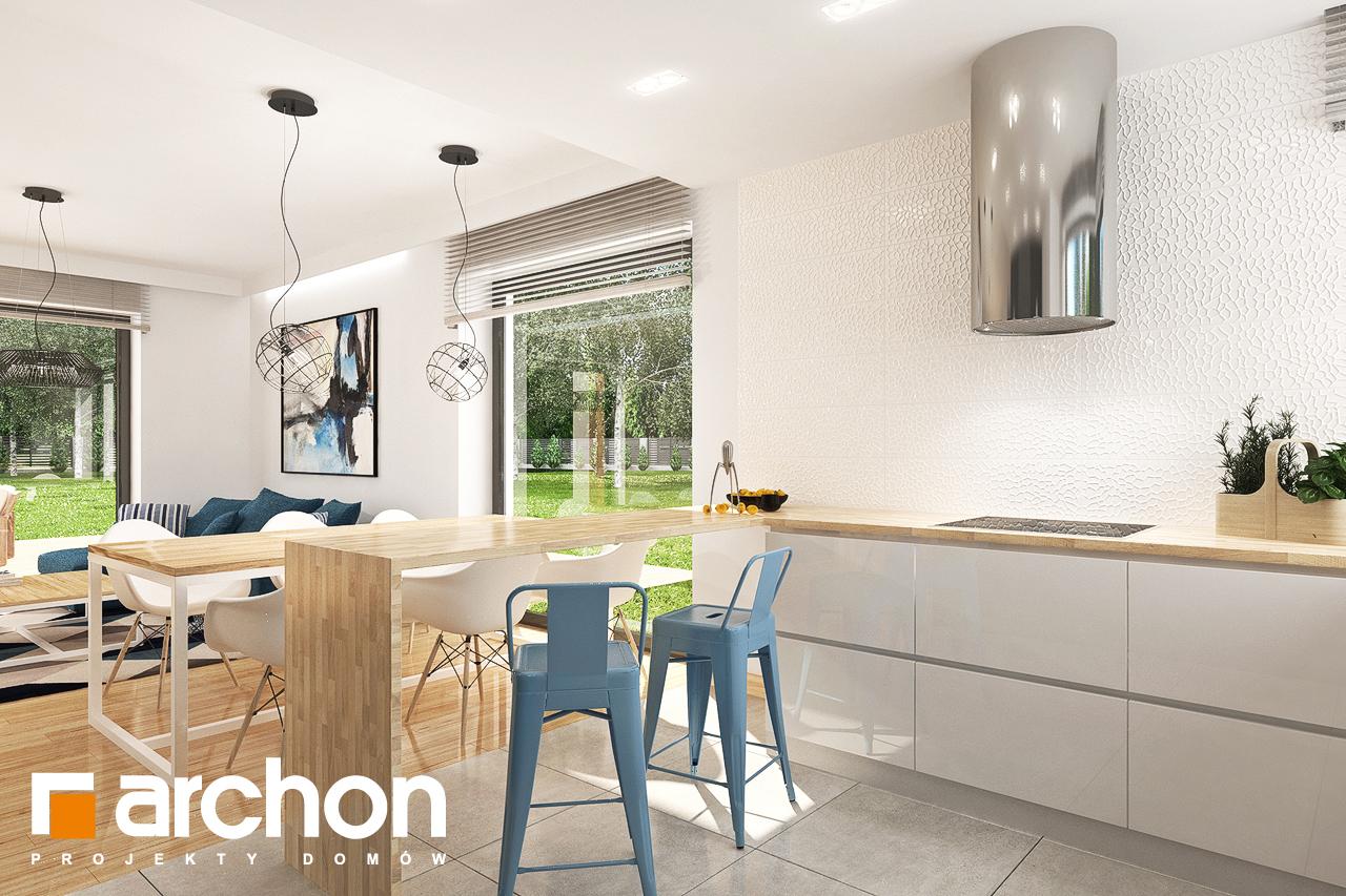 Проект будинку ARCHON+ Будинок в яблонках 14 візуалізація кухні 1 від 2