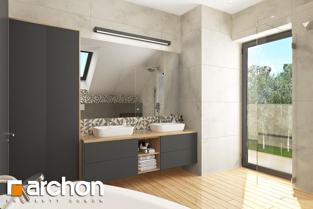 Проект будинку ARCHON+ Будинок в яблонках 14 візуалізація ванни (візуалізація 3 від 1)