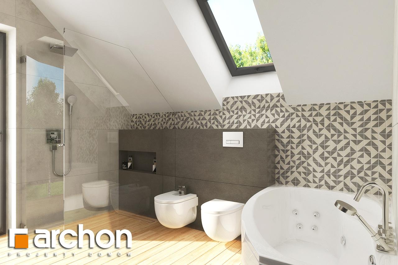 Проект будинку ARCHON+ Будинок в яблонках 14 візуалізація ванни (візуалізація 3 від 3)