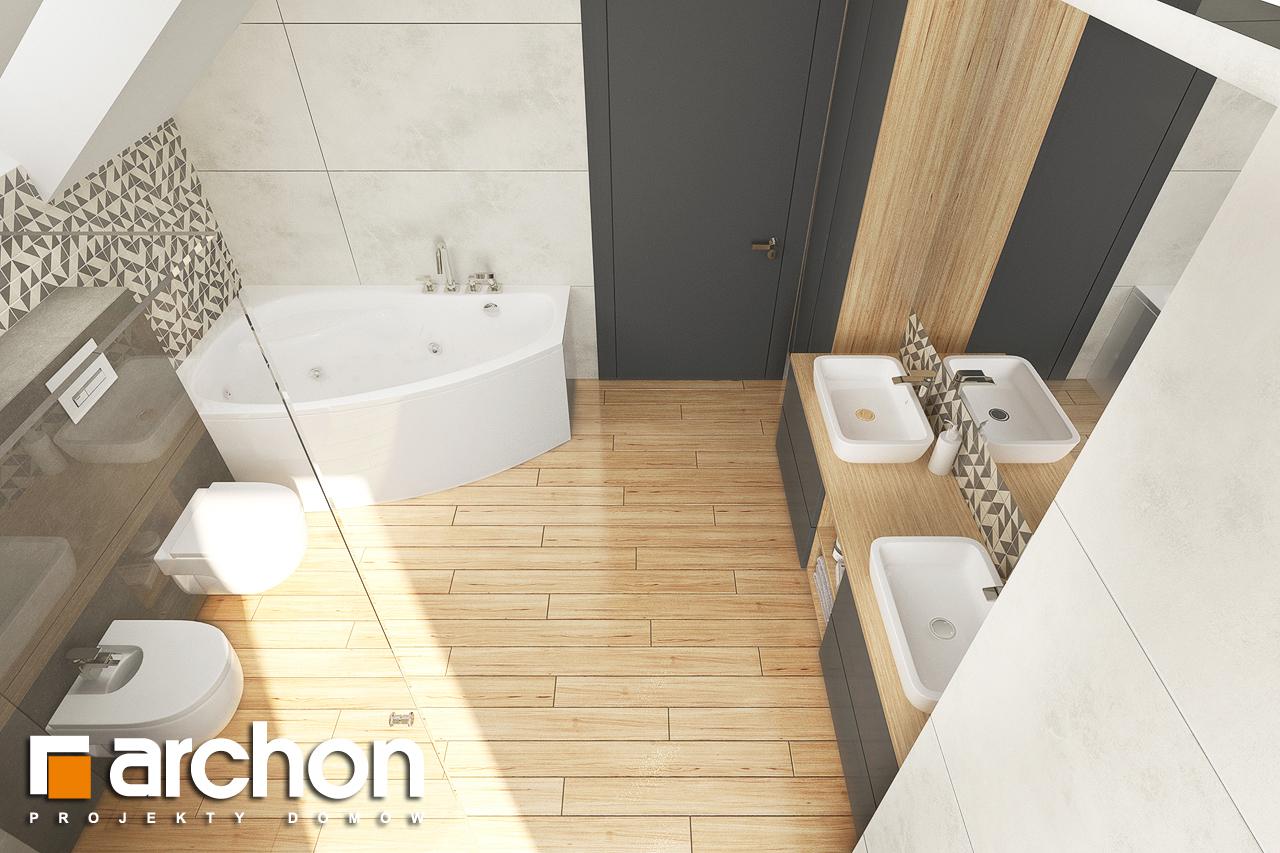 Проект будинку ARCHON+ Будинок в яблонках 14 візуалізація ванни (візуалізація 3 від 4)