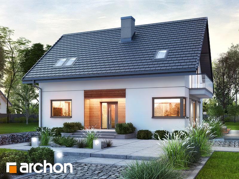 Проект будинку ARCHON+ Будинок в яблонках 14 Вид 1