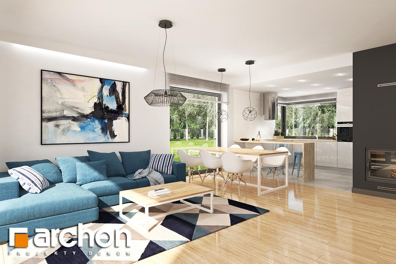 Проект будинку ARCHON+ Будинок в яблонках 14 денна зона (візуалізація 1 від 2)