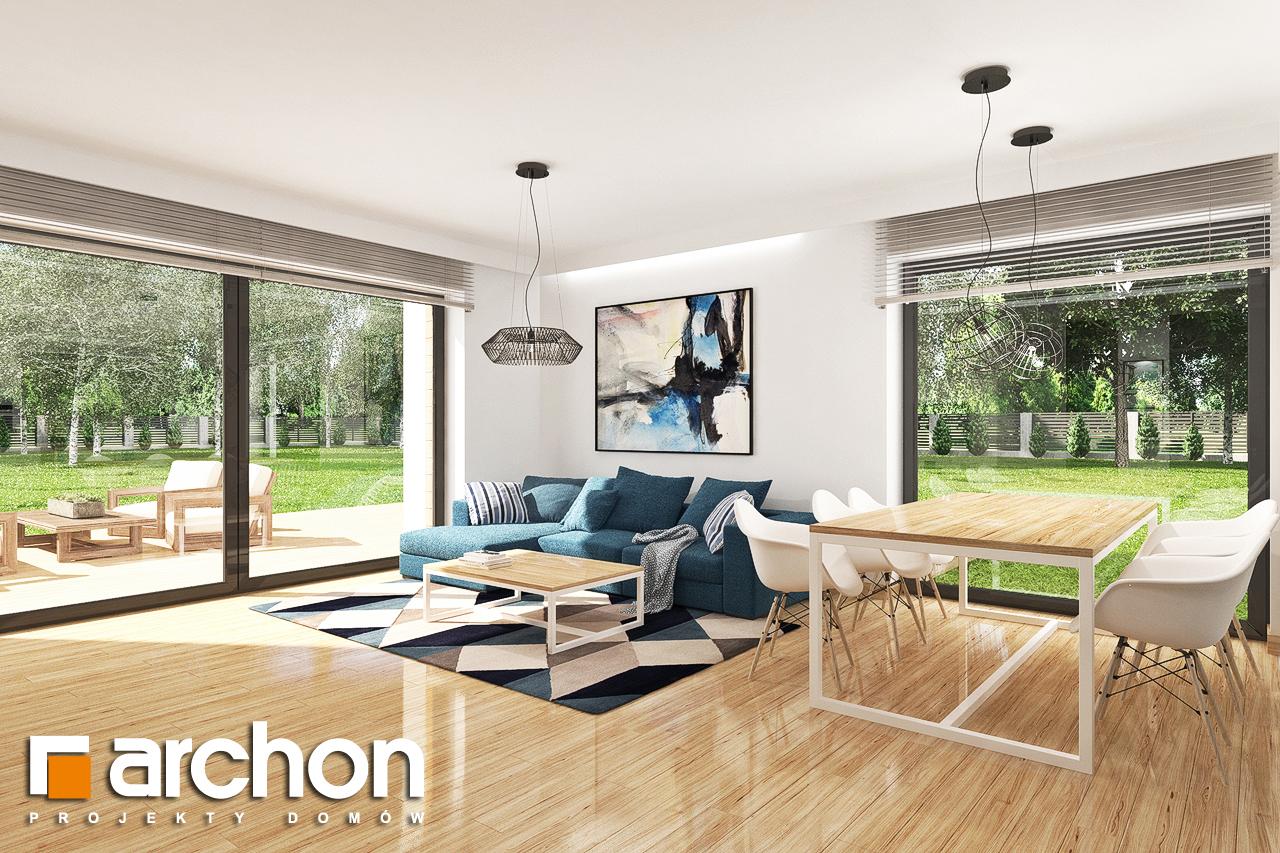 Проект будинку ARCHON+ Будинок в яблонках 14 денна зона (візуалізація 1 від 3)