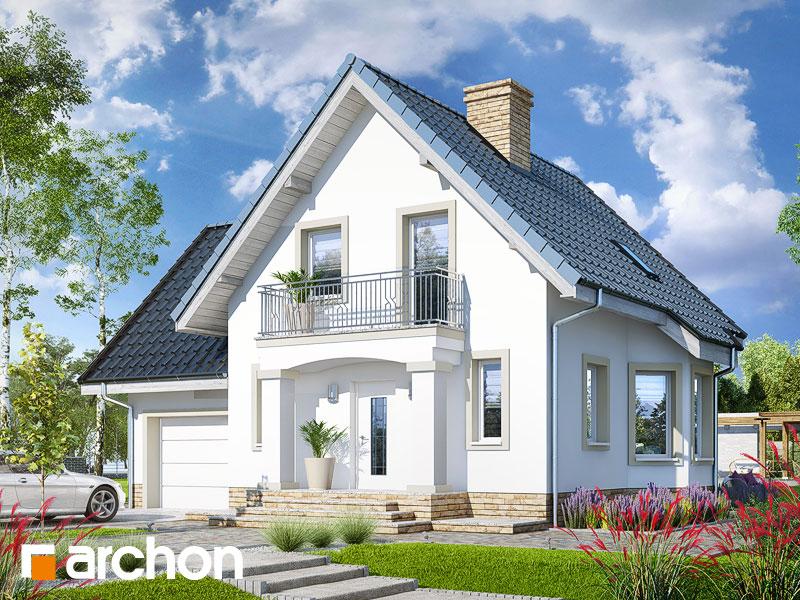 Проект дома ARCHON+ Дом в винограде 2 (П) Вид 1