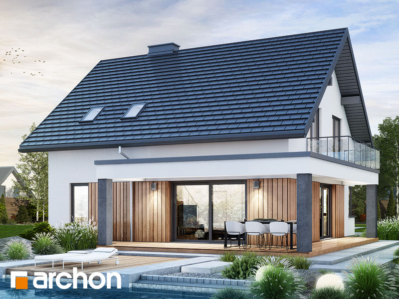 Проект будинку ARCHON+ Будинок в нефрісах (Г) Вид 2