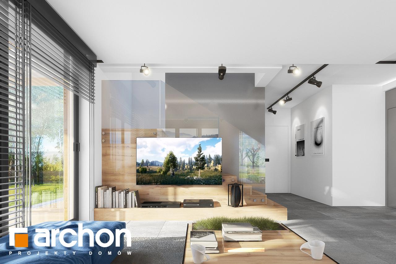 Проект будинку ARCHON+ Будинок в нефрісах (Г) денна зона (візуалізація 1 від 1)