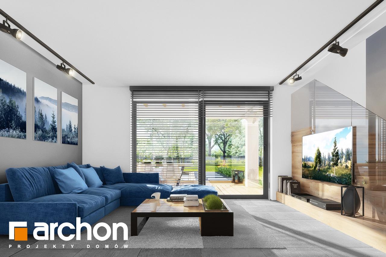 Проект будинку ARCHON+ Будинок в нефрісах (Г) денна зона (візуалізація 1 від 2)