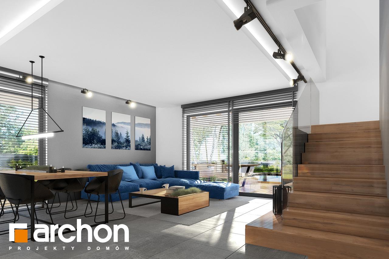 Проект будинку ARCHON+ Будинок в нефрісах (Г) денна зона (візуалізація 1 від 3)