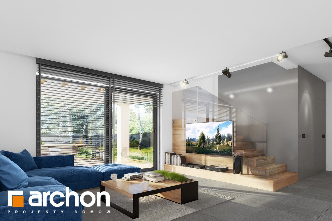 Проект будинку ARCHON+ Будинок в нефрісах (Г) денна зона (візуалізація 1 від 4)