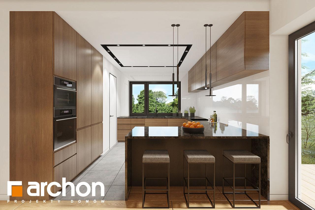 Проект будинку ARCHON+ Будинок в ренклодах 16 (Г2) візуалізація кухні 1 від 2