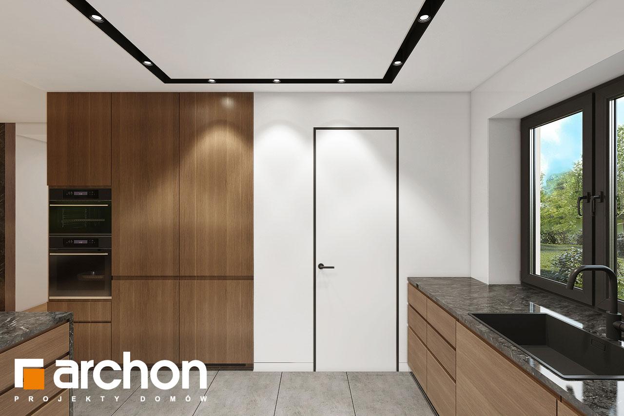 Проект будинку ARCHON+ Будинок в ренклодах 16 (Г2) візуалізація кухні 1 від 3