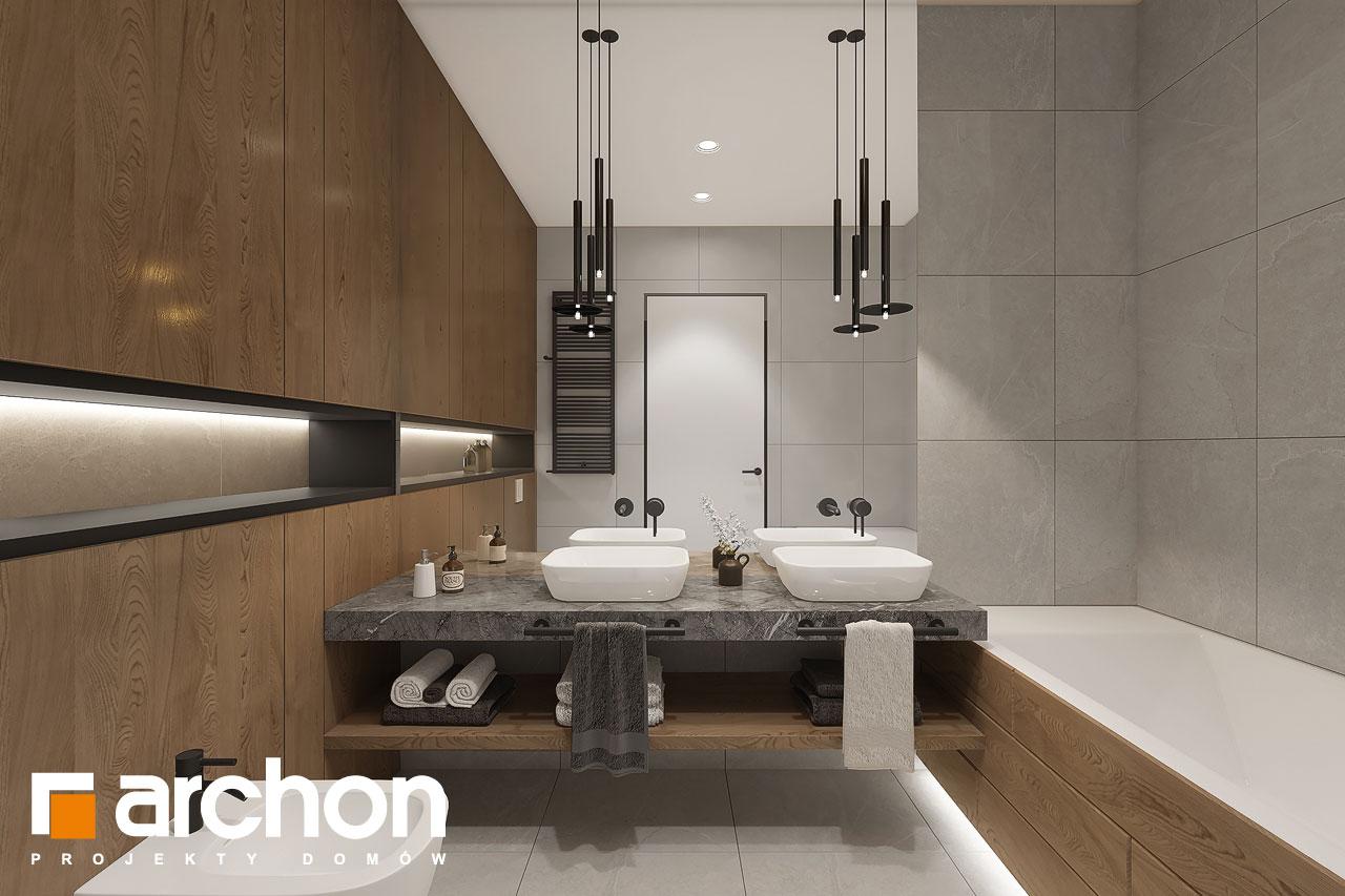 Проект будинку ARCHON+ Будинок в ренклодах 16 (Г2) візуалізація ванни (візуалізація 3 від 1)