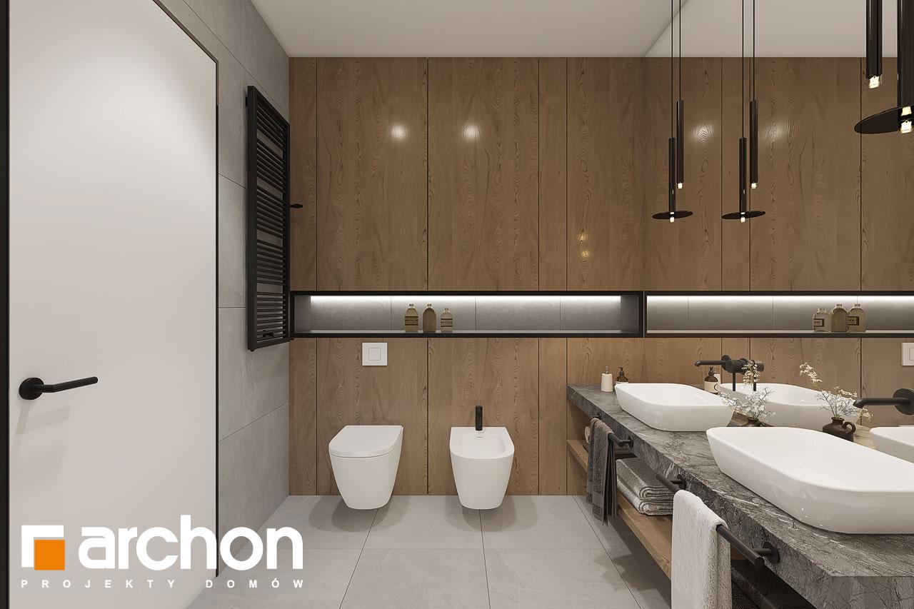 Проект будинку ARCHON+ Будинок в ренклодах 16 (Г2) візуалізація ванни (візуалізація 3 від 2)