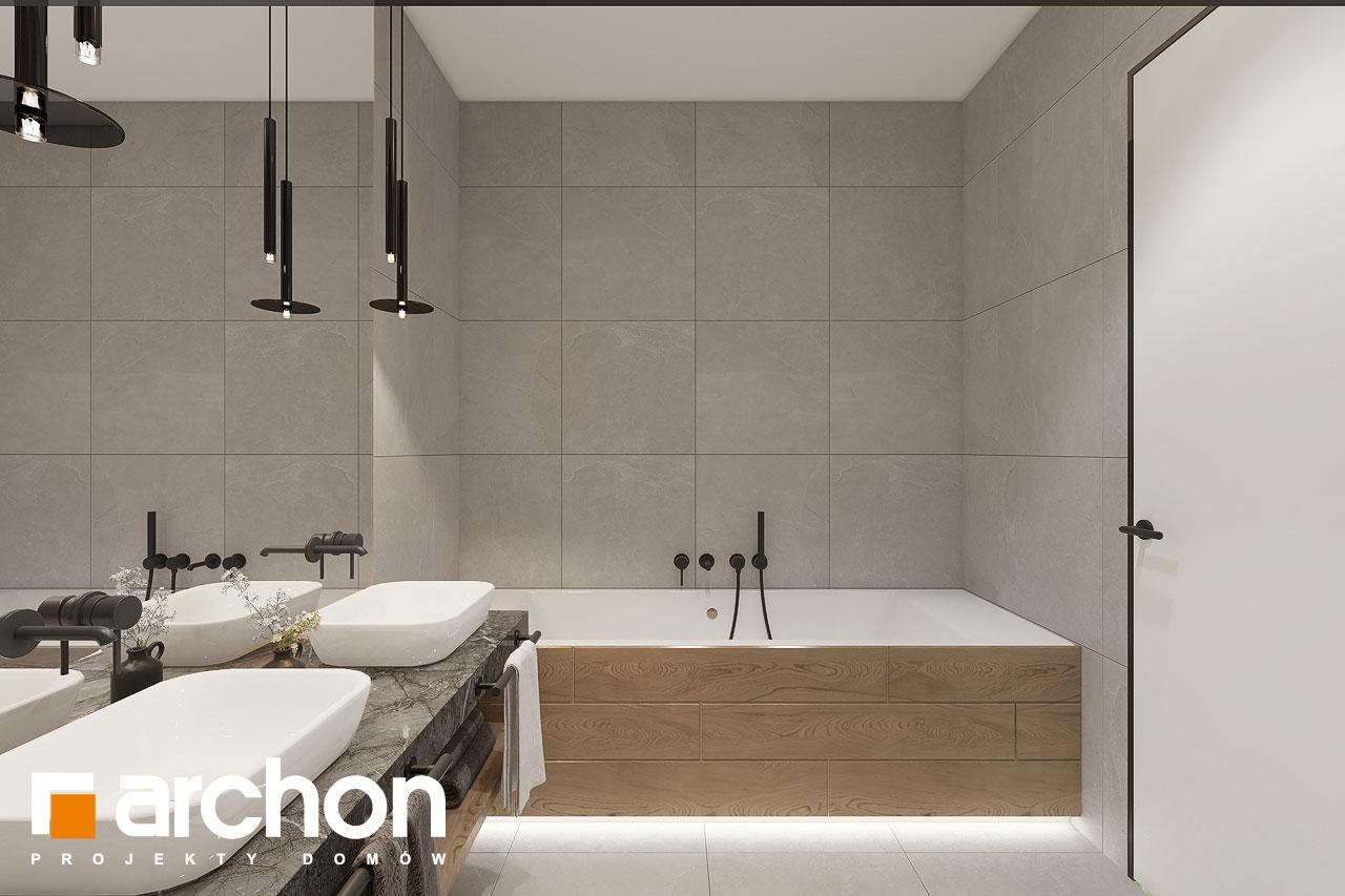 Проект будинку ARCHON+ Будинок в ренклодах 16 (Г2) візуалізація ванни (візуалізація 3 від 3)
