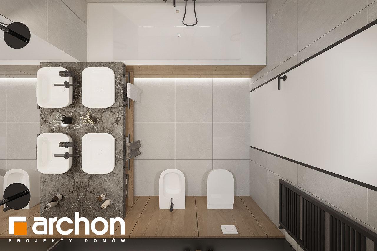 Проект будинку ARCHON+ Будинок в ренклодах 16 (Г2) візуалізація ванни (візуалізація 3 від 4)