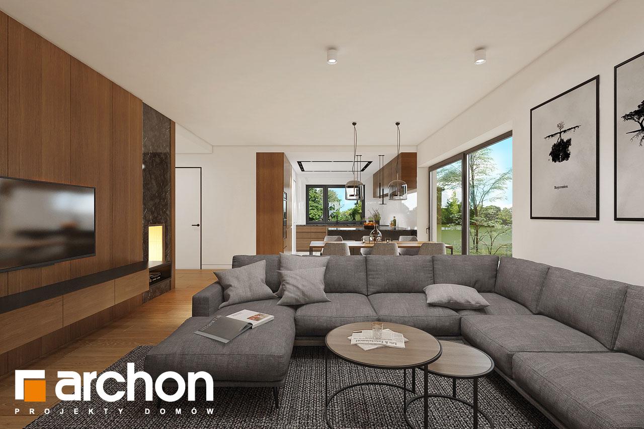 Проект будинку ARCHON+ Будинок в ренклодах 16 (Г2) денна зона (візуалізація 1 від 3)