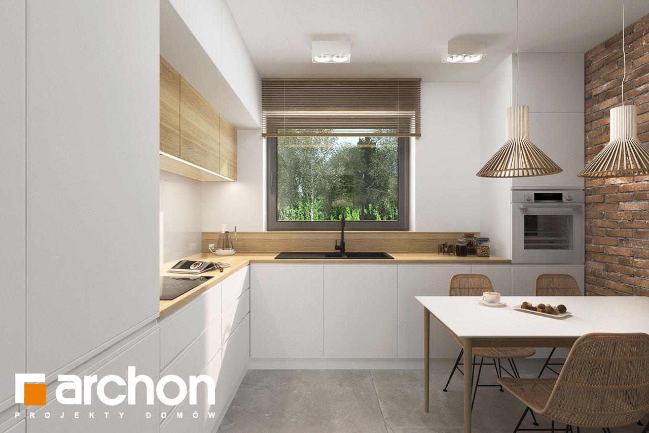 Проект будинку ARCHON+ Будинок мініатюрка (Н) вер.2 візуалізація кухні 1 від 1