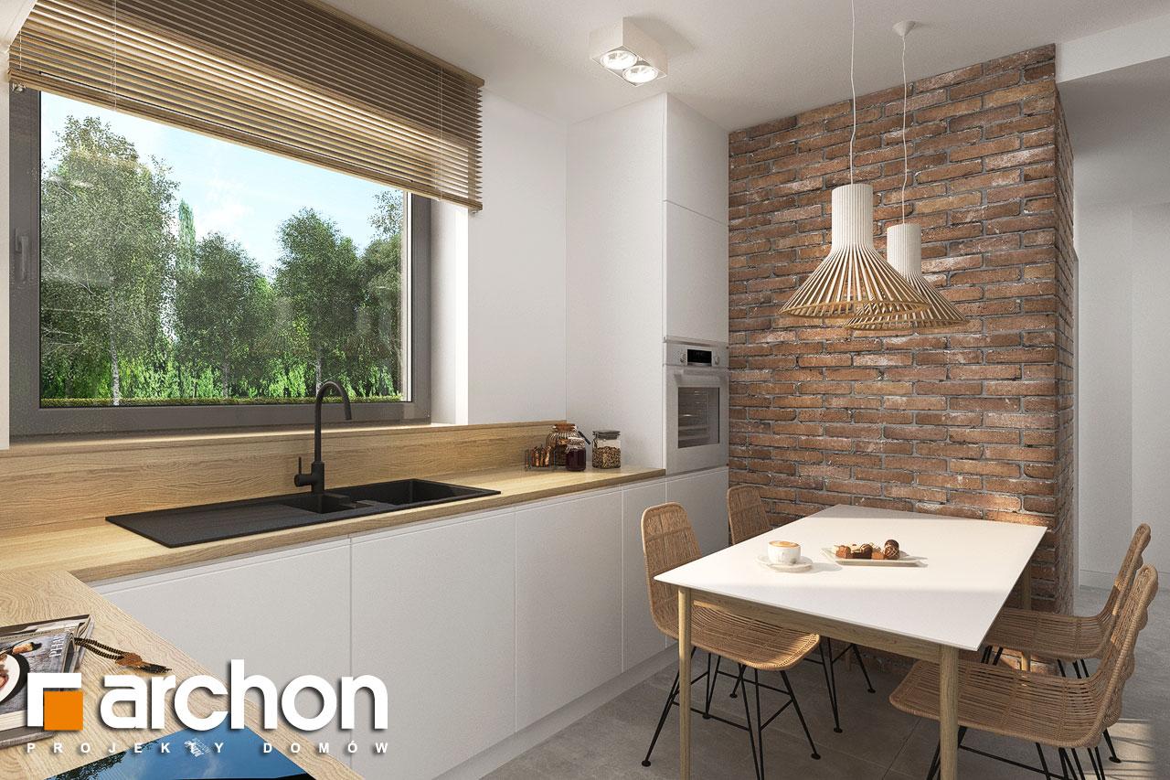 Проект будинку ARCHON+ Будинок мініатюрка (Н) вер.2 візуалізація кухні 1 від 2
