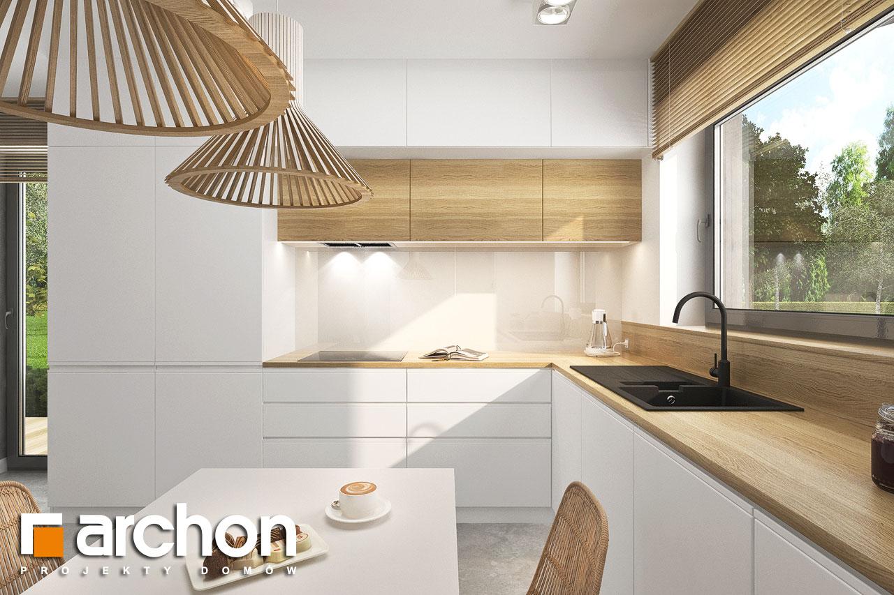 Проект будинку ARCHON+ Будинок мініатюрка (Н) вер.2 візуалізація кухні 1 від 3