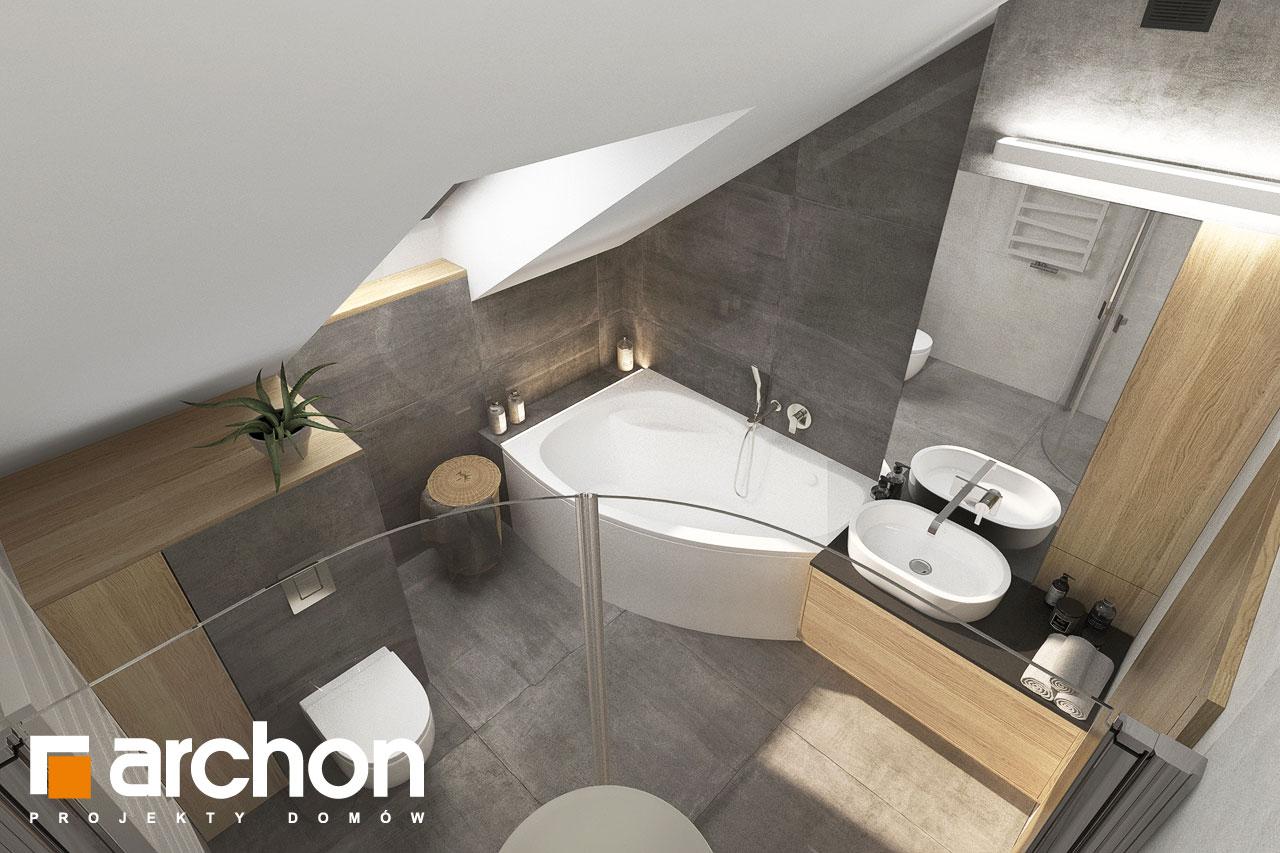 Проект будинку ARCHON+ Будинок мініатюрка (Н) вер.2 візуалізація ванни (візуалізація 3 від 4)