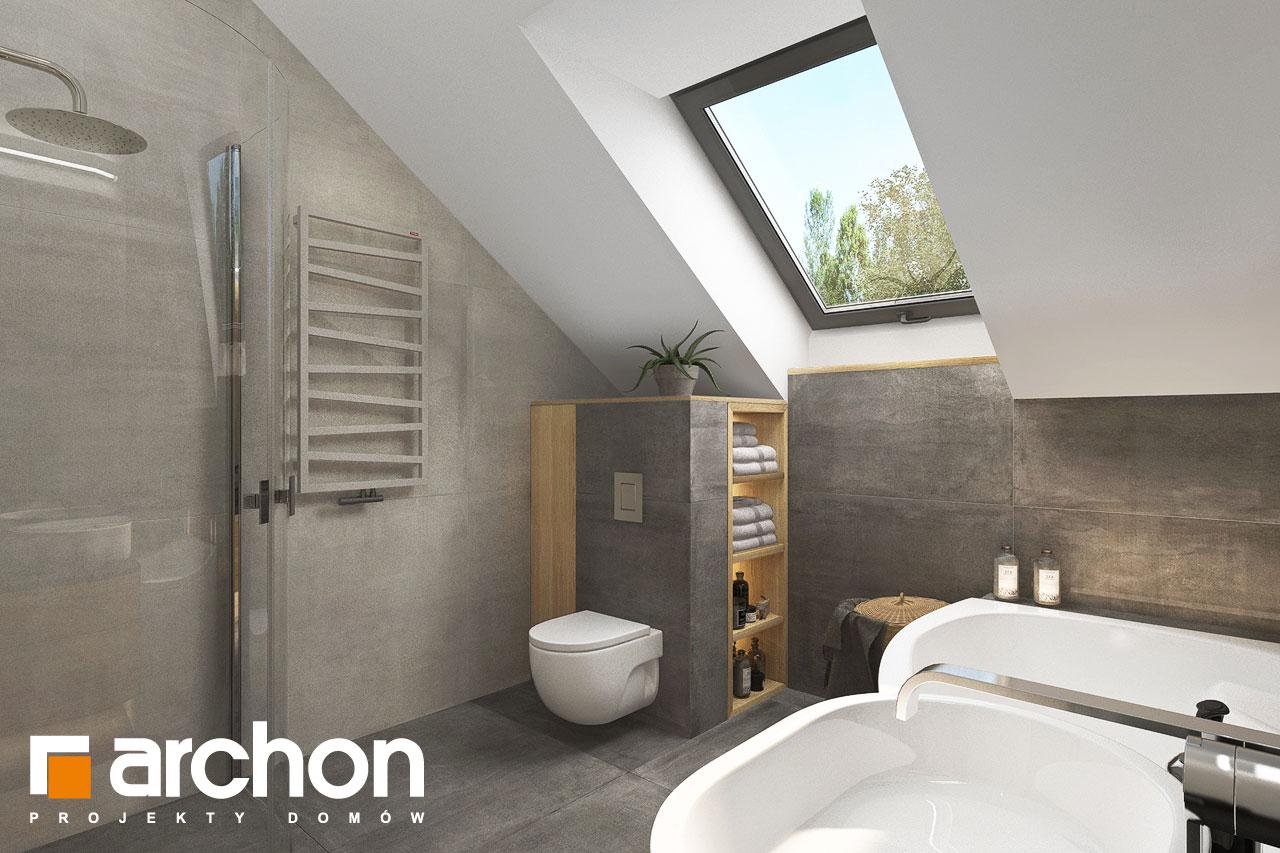 Проект будинку ARCHON+ Будинок мініатюрка (Н) візуалізація ванни (візуалізація 3 від 2)