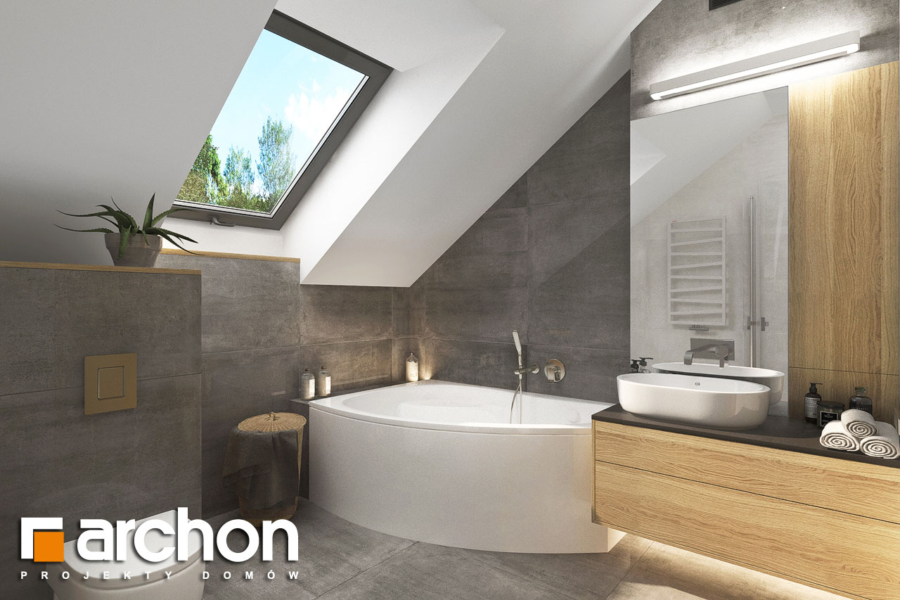 Проект будинку ARCHON+ Будинок мініатюрка (Н) візуалізація ванни (візуалізація 3 від 3)