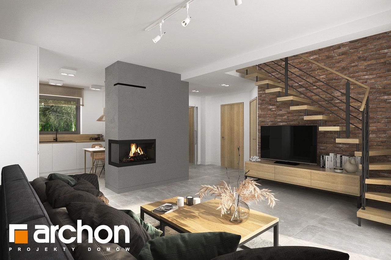 Проект будинку ARCHON+ Будинок мініатюрка (Н) вер.2 денна зона (візуалізація 1 від 1)