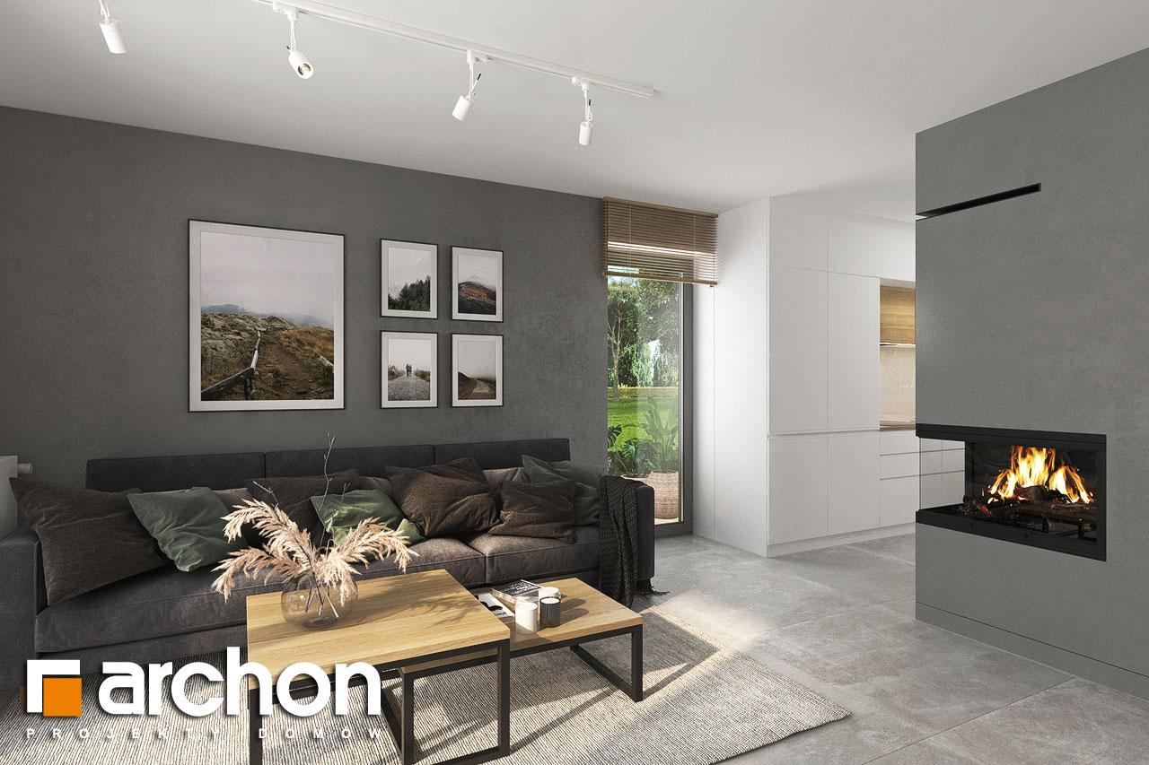 Проект будинку ARCHON+ Будинок мініатюрка (Н) вер.2 денна зона (візуалізація 1 від 3)